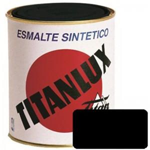 ESMALTE NEGRO MATE TITANLUX 375ml 576