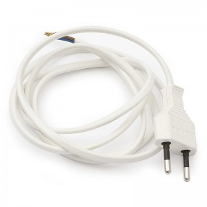 CABLE EURO 1,5mtos CON ENCHUFE BLANCO