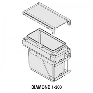 MODULO CUBO BASURA DIAMOND M300 1x36Lts.