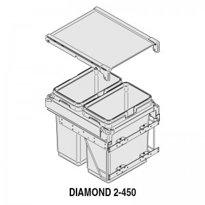 MODULO CUBO BASURA DIAMOND M450 2x30Lts.