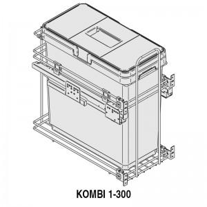MODULO CUBO BASURA KOMBI M300 1x33Lts.