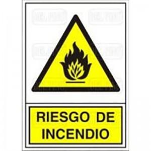"SEÑAL 319 PLAST.345x245""RIESGO INCENDIO"""