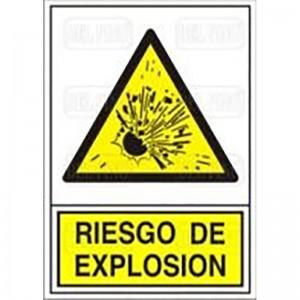 """SEÑAL 321 PLAST.490x345""""RIESG.EXPLOSION"""""""