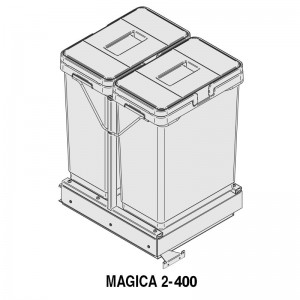 MODULO CUBO BASURA MAGICA M400 2x20Lts.