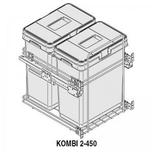 MODULO CUBO BASURA KOMBI M450 2x30Lts.