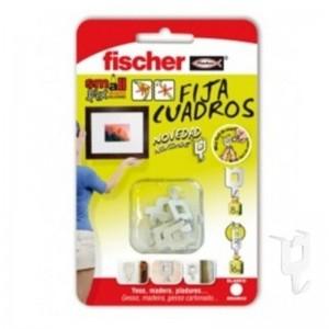 BLISTER FIJACUADROS FISCHER BLANCO (8ud) (Soportan 8 kgs de peso)