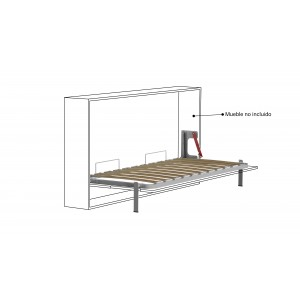 SOMIER HORIZONTAL 150x190 GRIS PATA BASCULANTE