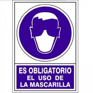 """SEÑAL 622 PLÁSTICO 345x245 OBLIGATORIO EL USO DE MASCARILLA"""""""""""