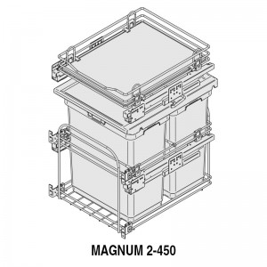MODULO CUBO BASURA MAGNUM M450 2x30L