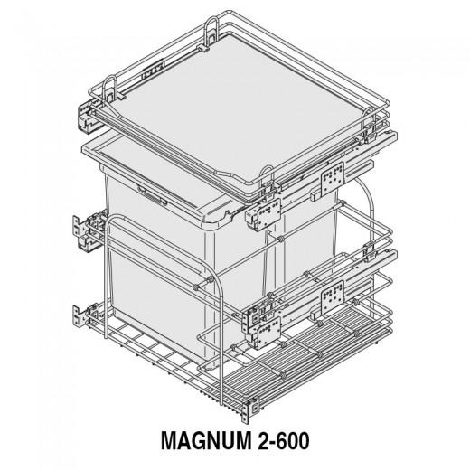 MODULO CUBO BASURA MAGNUM M600 2x30Lts.