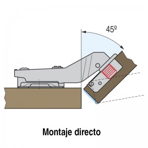 BIS F. C95 95º MONTAJE DIRECTO ÁNGULO 45º RECTO H95090EGG MONTAJE DIRECTO ANGULO 45§ RECTO