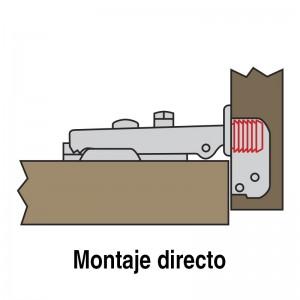 BISAGRA BAZA AVAN E16 105º TACO MONTAJE DIRECTO Ø10mm Ø26 RECTO MONTAJE DIRECTO 10mm.