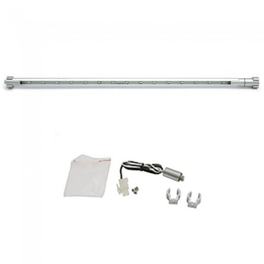TIRA 20 LEDS ALUMINIO 565cm 1.20W 12V LUZ BLANCA AMP,NO INCLUYE TRANS, CABLE 60cms