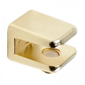 SOPORTE CUADRADO 18x16 PARA CRISTAL 6mm ORO