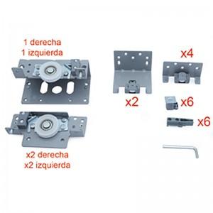 KIT HERRAJES 3 PUERTAS 1-EXT + 2-INT SP19