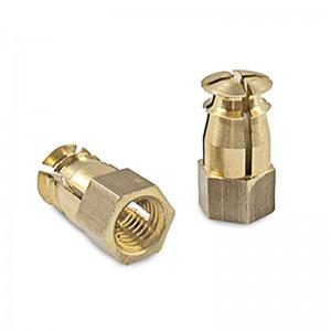 TUERCA EXPANSIBLE LATON SIN PASTILLA M8X20 PARA TALADROS DIAMETRO 10mm.