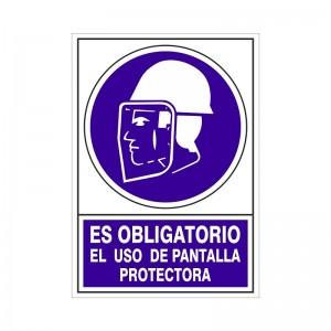 """SEÑAL 609 PLÁSTICO 345x245 OBLIGATORIO EL USO DE PANTALLA"""""""""""