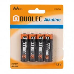 PILA DUOLEC ALKALINE LR06 AA 1,5V (4U.)