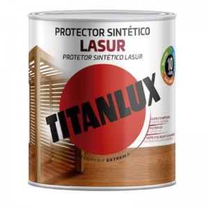 TITANLUX LASUR SATINADO CAOBA 750ml M31 PROTECTOR INTERIOR/EXTERIOR