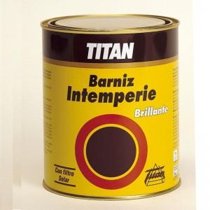 BARNIZ INTEMPERIE BRILLO TITANLUX 125ml EXTERIOR INCOLORO