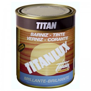 BARNIZ TINTE ROBLE BRILLO TITANLUX 500ml