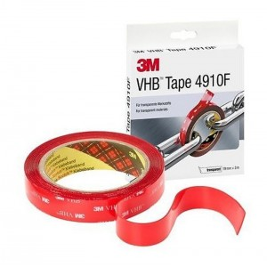 CINTA ACRILICA VHB 4910F 3M 19mmX3m TR. 1mm DOBLE CARA A/PRESTACIONES TRANSPARENTE