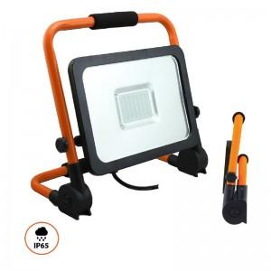 FOCO 56 LED PORTATIL C/CABLE 50W 5000Lum LUZ BLANCA 6000k-6500k. ANGULO LUMINICO 120º
