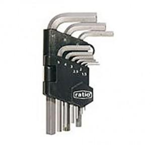 JUEGO 9 LLAVES ALLEN ACODADA (1.5-10MM) Medidas desde 1,5 hasta 10mm