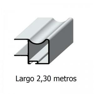 PERFIL TIRADOR ARAL ESPESOR 16 PLATA MATE 2,30