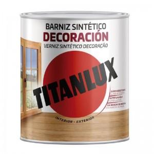 BARNIZ SINTETICO MATE TITANLUX 750ml INTERIOR/EXTERIOR M12