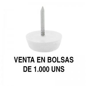 QUITARRUIDO d17 BLANCO CON CLAVO (1.000U)