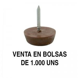 QUITARRUIDO d17 MARRON CON CLAVO (1.000U)